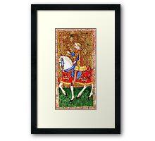 Medieval Nobleman on horseback Framed Print