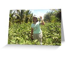 My Honey Monica In Field  Philippines.. Greeting Card