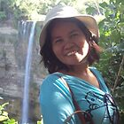 Monica  At Falls  Philippines by Kim Vaughn Sowards