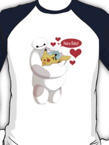 Baymax And Pikachu hugs T-Shirt
