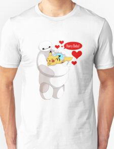 Baymax And Pikachu hugs T-Shirt
