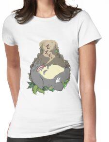 Sleepy Totoro Womens Fitted T-Shirt