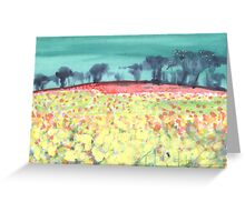 Field of spring flowers Greeting Card