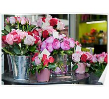 Flower Market in Paris Poster