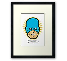 Captain RibMan - Face Framed Print