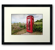 English Telephone Box Framed Print