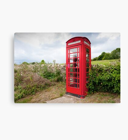 English Telephone Box Canvas Print
