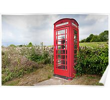 English Telephone Box Poster