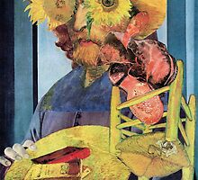 Portrait of Van Gogh 7. by Andy Nawroski
