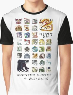 Monster Hunter 4 Ultimate 'Hunt Me' Design Graphic T-Shirt