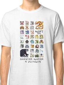 Monster Hunter 4 Ultimate 'Hunt Me' Design Classic T-Shirt