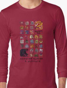 Monster Hunter 4 Ultimate 'Hunt Me' Design Long Sleeve T-Shirt