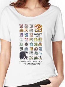 Monster Hunter 4 Ultimate 'Hunt Me' Design Women's Relaxed Fit T-Shirt
