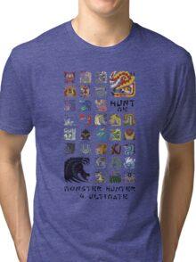Monster Hunter 4 Ultimate 'Hunt Me' Design Tri-blend T-Shirt