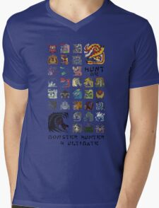 Monster Hunter 4 Ultimate 'Hunt Me' Design Mens V-Neck T-Shirt