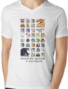 Monster Hunter 4 Ultimate 'Hunt Me' Design Mens V-Neck T-Shirt