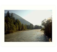 The mighty river Lech Art Print