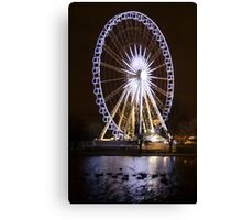 Winter Wonderland Ferris Wheel Canvas Print