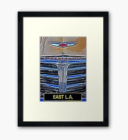 Chicano Chevy Framed Print