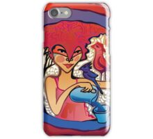 girl with birds drinking water iPhone Case/Skin