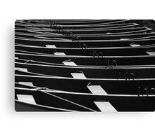 Row, row, row of boats Canvas Print
