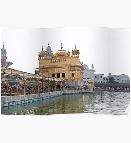 Causeway leading to the Golden Temple Poster