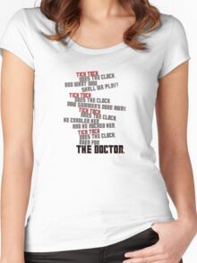 Tick Tock Women's Fitted Scoop T-Shirt