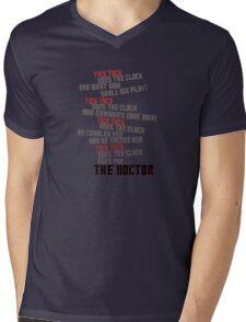 Tick Tock Mens V-Neck T-Shirt