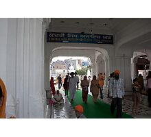 Devotees entering the Golden Temple in Amritsar Photographic Print