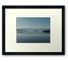 MAGIC MORNING ON FLATHEAD LAKE, MT Framed Print