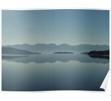 MAGIC MORNING ON FLATHEAD LAKE, MT Poster