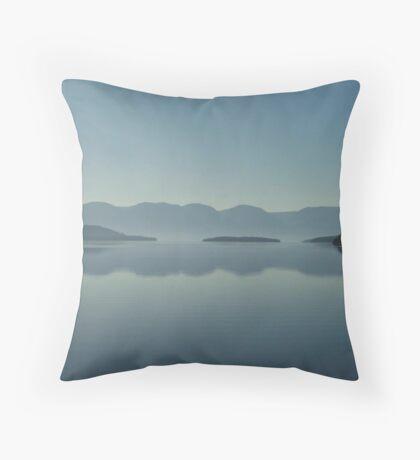 MAGIC MORNING ON FLATHEAD LAKE, MT Throw Pillow