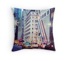 5th Ave, Magical Manhattan Throw Pillow