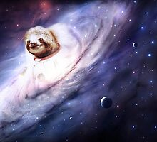 Sloth Astronaut In Space by Eliotmad
