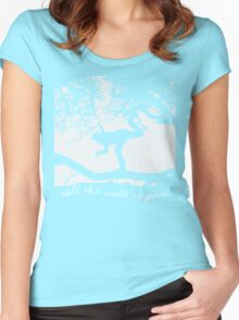 Tom Waits - All the World is Green Women's Fitted Scoop T-Shirt