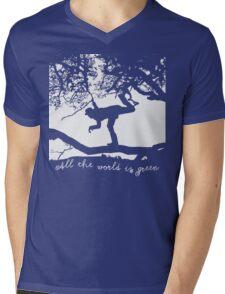 Tom Waits - All the World is Green Mens V-Neck T-Shirt