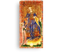 Medieval Queen painting Canvas Print