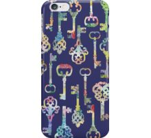 Rainbow Skeleton Keys Pattern iPhone Case/Skin