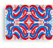 The Flag of Red, White, and Blue Canvas Print