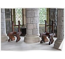 St Conans carved chairs Poster