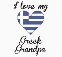 I Love My Greek Grandpa Kids Tee