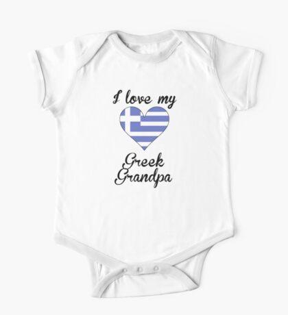 I Love My Greek Grandpa One Piece - Short Sleeve