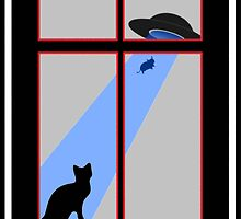 My cat saw an abduction by the window by FMelo