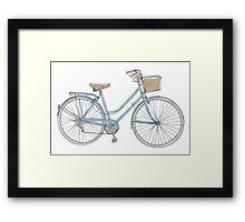 vintage bicycle  cute art Framed Print