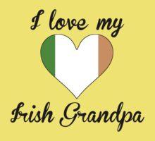 I Love My Irish Grandpa Kids Tee