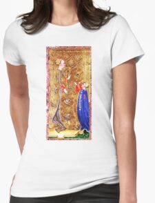 Medieval Queen painting Womens Fitted T-Shirt