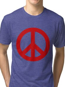 Peace - red. Tri-blend T-Shirt