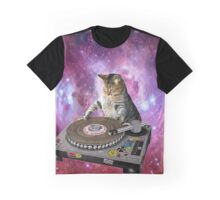 DJ Space Cat Graphic T-Shirt