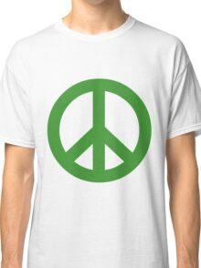 Peace - green. Classic T-Shirt