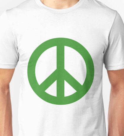 Peace - green. Unisex T-Shirt